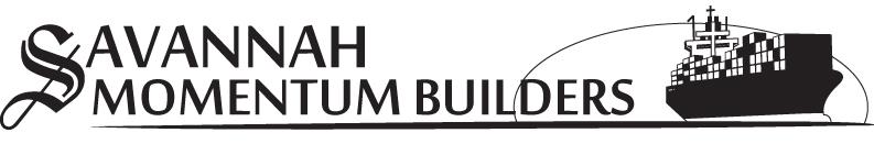 Savannah Momentum Builders - Horizontal Format Logo - Black & White