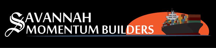 Savannah Momentum Builders - Horizontal Format Logo - Color with Dark Background