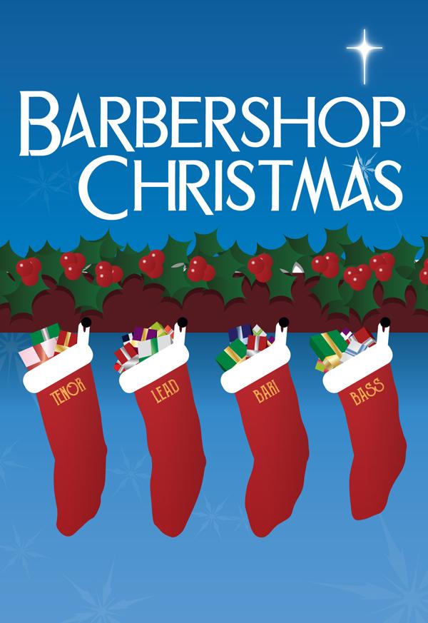 """Barbershop Christmas"" - Program Cover Design"