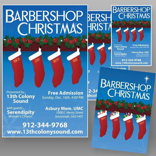 """""""Barbershop Christmas"""" - Promotional Package"""