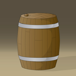 Medieval Game - Conceptual Artwork - Wooden Barrel Icon