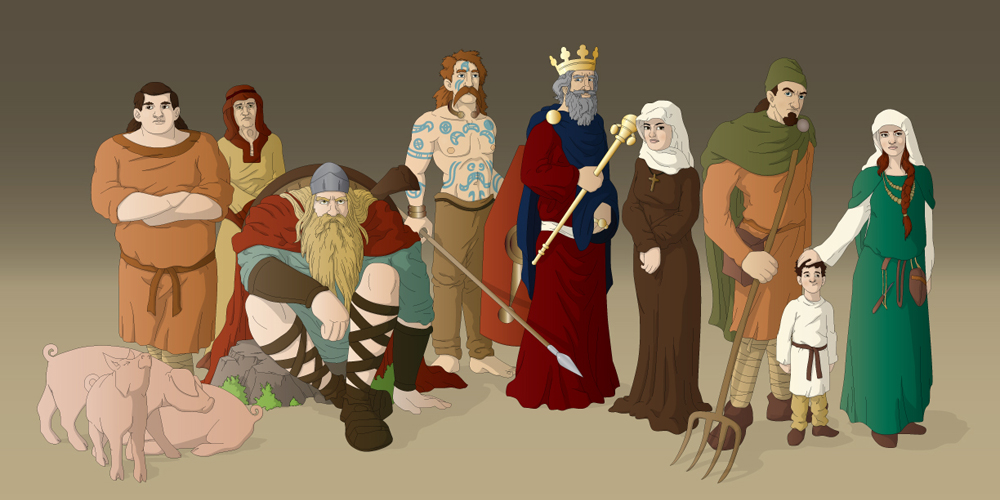 Medieval Game - Conceptual Artwork - Banner Ilustration
