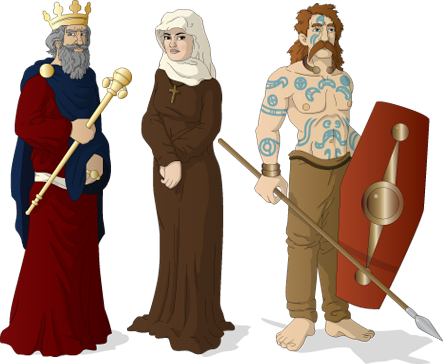 Medieval Game - Conceptual Artwork - Character Illustrations