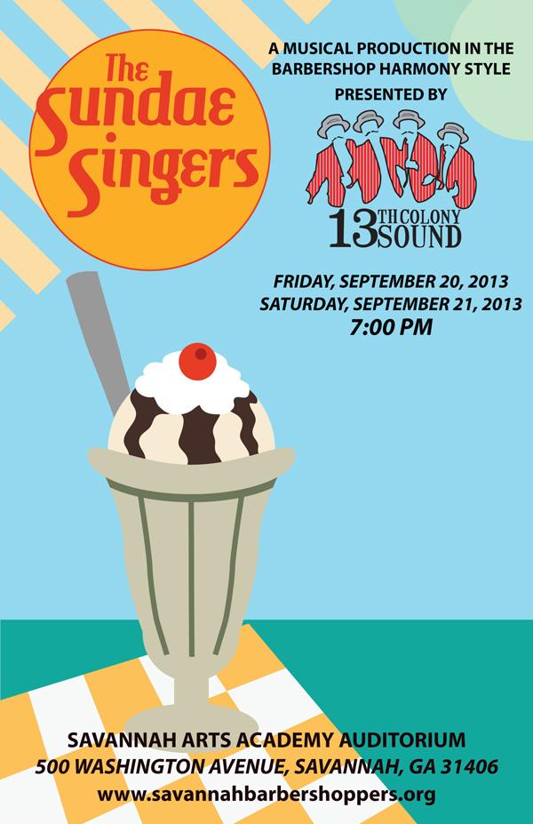 """""""the Sundae Singers"""" - Program Cover"""