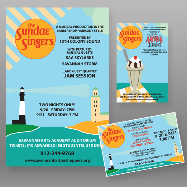 """""""The Sundae Singers"""" - Promotional Package"""